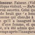 Enfonceur -  extrait du Dictionnaire d'argot fin-de-siècle de Virmaître