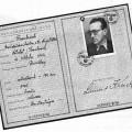 Passeport provisoire pendant la 2nd guerre mondiale