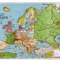 Carte de l'Europe en 1923