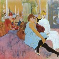 Salon de la rue des Moulins par Henri de Toulouse-Lautrec