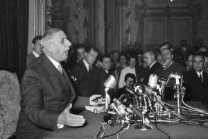 Discours de  De Gaulle à la radio