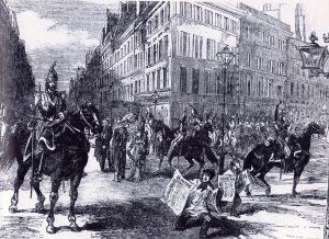 Cavalerie dans les rues de Paris le 2 décembre 1851