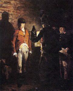 Le duc d'Enghien dans les fossés de Vincennes, par Jean-Paul Laurens