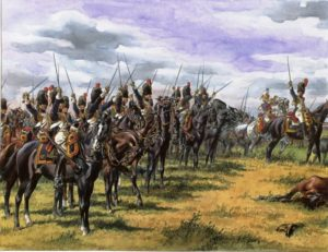 Chevaux pendant une bataille