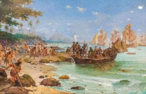 L'arrivée de Pedro Álvares Cabral à Porto Seguro en 1500