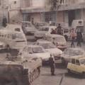 Alger, le 12 janvier 1992. Les blindés dans les rues de la capitale au lendemain de l'annonce de l'annulation des élections.