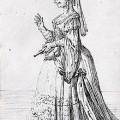 Caricature de Farinelli en femme