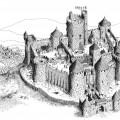 Dessin d'un château fort type